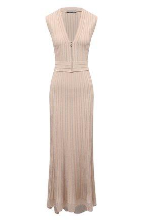 Женское платье из вискозы D.EXTERIOR бежевого цвета, арт. 52046   Фото 1