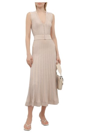 Женское платье из вискозы D.EXTERIOR бежевого цвета, арт. 52046   Фото 2