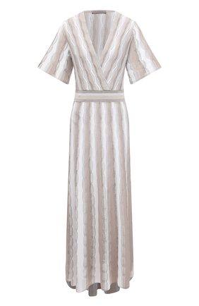 Женское платье из вискозы D.EXTERIOR бежевого цвета, арт. 52163   Фото 1