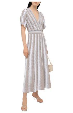 Женское платье из вискозы D.EXTERIOR бежевого цвета, арт. 52163   Фото 2