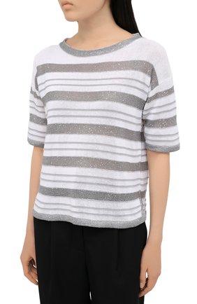 Женский хлопковый пуловер D.EXTERIOR серого цвета, арт. 52318 | Фото 3