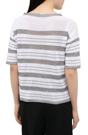 Женский хлопковый пуловер D.EXTERIOR серого цвета, арт. 52318 | Фото 4