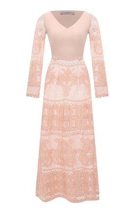 Женское хлопковое платье D.EXTERIOR светло-розового цвета, арт. 52340   Фото 1