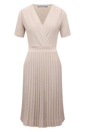 Женское платье из вискозы D.EXTERIOR бежевого цвета, арт. 52364   Фото 1