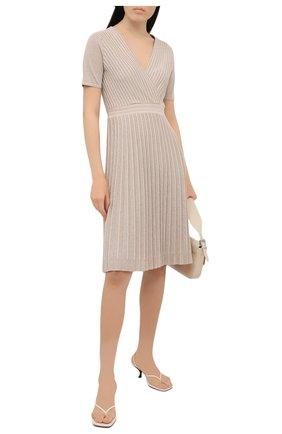 Женское платье из вискозы D.EXTERIOR бежевого цвета, арт. 52364   Фото 2