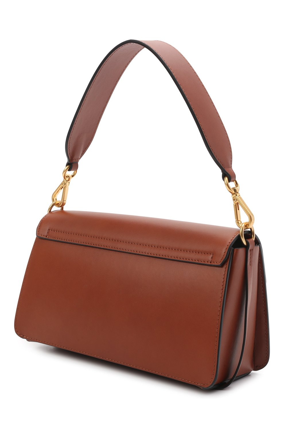 Женская сумка georgia WANDLER коричневого цвета, арт. GE0RGIA BAG   Фото 3 (Сумки-технические: Сумки через плечо, Сумки top-handle; Материал: Натуральная кожа; Размер: small)