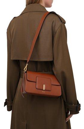 Женская сумка georgia WANDLER коричневого цвета, арт. GE0RGIA BAG   Фото 5 (Сумки-технические: Сумки через плечо, Сумки top-handle; Материал: Натуральная кожа; Размер: small)