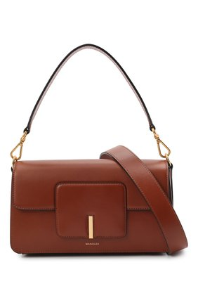 Женская сумка georgia WANDLER коричневого цвета, арт. GE0RGIA BAG   Фото 6 (Сумки-технические: Сумки через плечо, Сумки top-handle; Материал: Натуральная кожа; Размер: small)