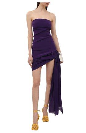Женское шелковое платье MONOT фиолетового цвета, арт. DR2010 | Фото 2
