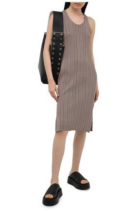 Женские кожаные шлепанцы MARSELL черного цвета, арт. MW6320/PELLE V0L0NATA | Фото 2 (Подошва: Платформа; Материал внутренний: Натуральная кожа)