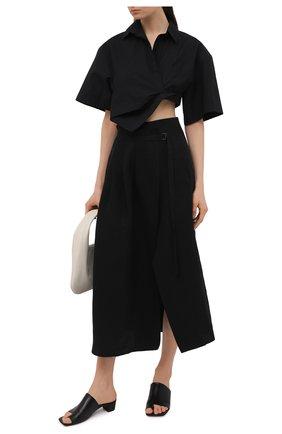 Женские кожаные мюли MARSELL черного цвета, арт. MW6430/PELLE VITELL0 | Фото 2