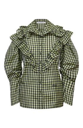 Женская блузка из вискозы PHILOSOPHY DI LORENZO SERAFINI зеленого цвета, арт. A0210/2136 | Фото 1