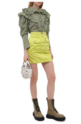 Женская блузка из вискозы PHILOSOPHY DI LORENZO SERAFINI зеленого цвета, арт. A0210/2136 | Фото 2