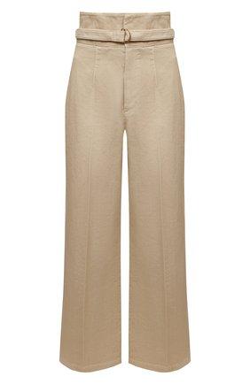 Женские хлопковые брюки PHILOSOPHY DI LORENZO SERAFINI бежевого цвета, арт. A0311/2133 | Фото 1
