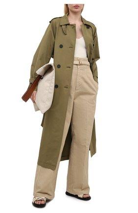 Женские хлопковые брюки PHILOSOPHY DI LORENZO SERAFINI бежевого цвета, арт. A0311/2133 | Фото 2