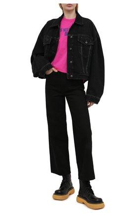 Женская хлопковая футболка DSQUARED2 розового цвета, арт. S72GD0298/S23009 | Фото 2