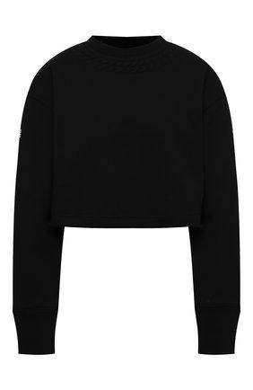 Женский хлопковый свитшот GIVENCHY черного цвета, арт. BWJ0203Z4Z   Фото 1