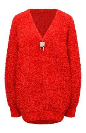 Женский хлопковый кардиган GIVENCHY красного цвета, арт. BW90CL4Z9G | Фото 1