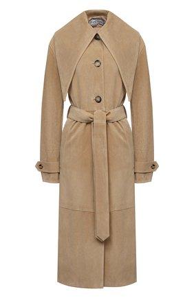 Женское замшевое пальто JW ANDERSON бежевого цвета, арт. LC0003 PG0530 | Фото 1
