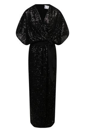 Женское платье с пайетками IN THE MOOD FOR LOVE черного цвета, арт. SEQUIN MADALYA DRESS | Фото 1