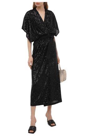 Женское платье с пайетками IN THE MOOD FOR LOVE черного цвета, арт. SEQUIN MADALYA DRESS | Фото 2
