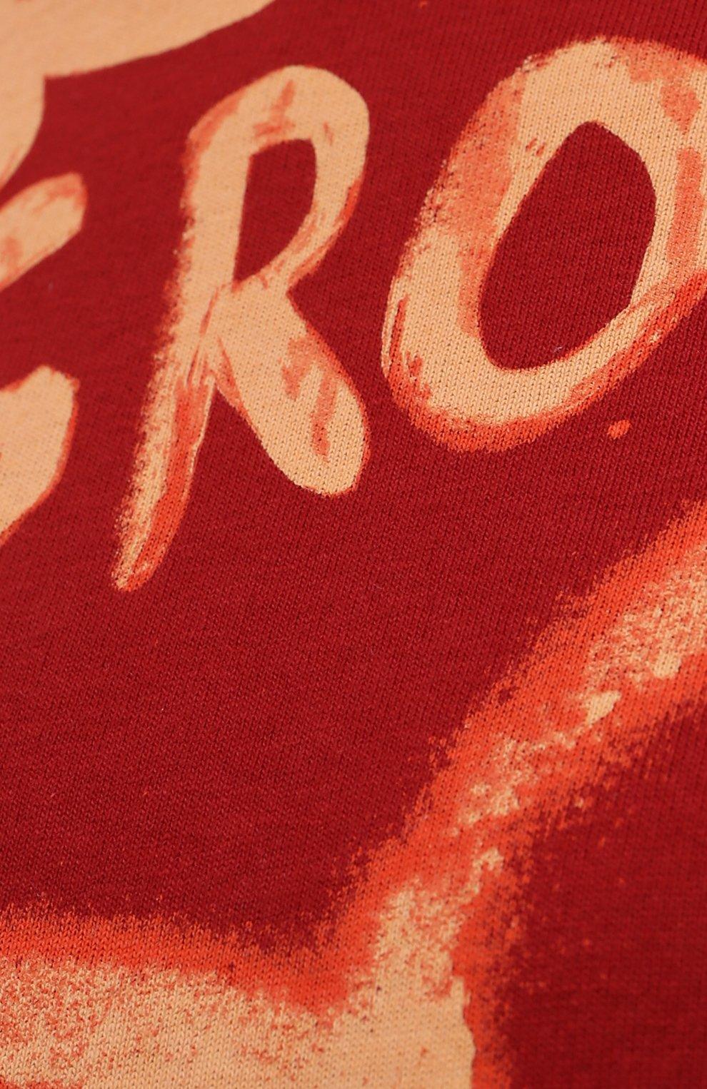 Женская хлопковая футболка ACNE STUDIOS красного цвета, арт. AL0207   Фото 5