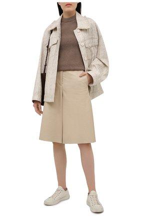 Женский пуловер ACNE STUDIOS коричневого цвета, арт. A60270 | Фото 2