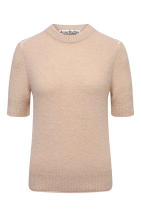 Женский пуловер ACNE STUDIOS бежевого цвета, арт. A60270   Фото 1
