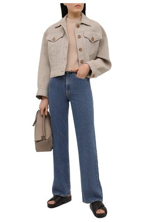 Женский пуловер ACNE STUDIOS бежевого цвета, арт. A60270   Фото 2
