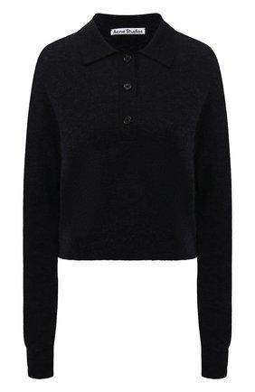Женский шерстяной пуловер ACNE STUDIOS темно-серого цвета, арт. A60247   Фото 1