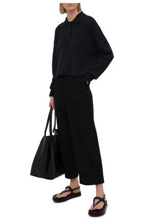 Женский шерстяной пуловер ACNE STUDIOS темно-серого цвета, арт. A60247   Фото 2