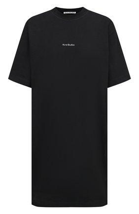 Женское хлопковое платье ACNE STUDIOS черного цвета, арт. A20281   Фото 1