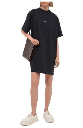 Женское хлопковое платье ACNE STUDIOS черного цвета, арт. A20281   Фото 2
