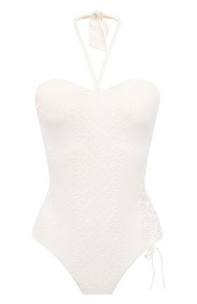 Женский слитный купальник ERMANNO SCERVINO белого цвета, арт. D384Y300CBWM | Фото 1