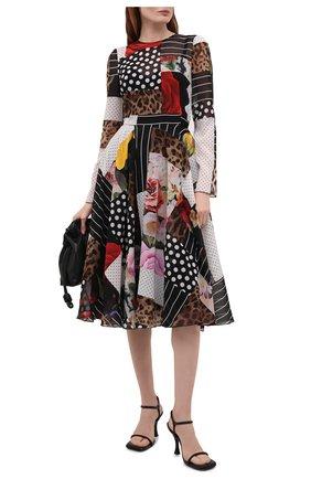 Женское шелковое платье DOLCE & GABBANA разноцветного цвета, арт. F6L0KT/GDX84 | Фото 2