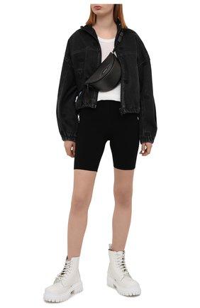 Женские шорты из вискозы ALEXANDERWANG.T черного цвета, арт. 4KC2214067 | Фото 2