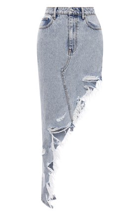 Женская джинсовая юбка DENIM X ALEXANDER WANG голубого цвета, арт. 4DC2215944   Фото 1