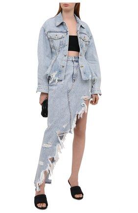 Женская джинсовая юбка DENIM X ALEXANDER WANG голубого цвета, арт. 4DC2215944 | Фото 2