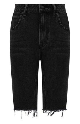 Женские джинсовые шорты DENIM X ALEXANDER WANG темно-серого цвета, арт. 4DC2214942 | Фото 1 (Стили: Гранж; Женское Кросс-КТ: Шорты-одежда; Кросс-КТ: Деним; Материал внешний: Хлопок, Деним; Длина Ж (юбки, платья, шорты): До колена)