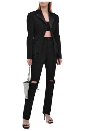 Женские джинсы DENIM X ALEXANDER WANG черного цвета, арт. 4DC2214929 | Фото 2