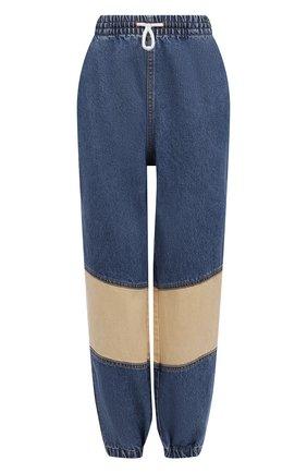 Женские джинсы DENIM X ALEXANDER WANG синего цвета, арт. 4DC2214843 | Фото 1 (Силуэт Ж (брюки и джинсы): Джоггеры; Стили: Спорт-шик; Длина (брюки, джинсы): Стандартные; Материал внешний: Хлопок; Кросс-КТ: Деним)