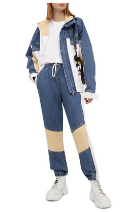 Женские джинсы DENIM X ALEXANDER WANG синего цвета, арт. 4DC2214843 | Фото 2 (Силуэт Ж (брюки и джинсы): Джоггеры; Стили: Спорт-шик; Длина (брюки, джинсы): Стандартные; Материал внешний: Хлопок; Кросс-КТ: Деним)