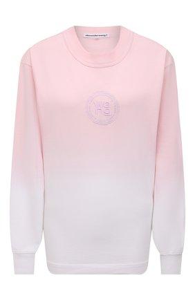 Женская хлопковый лонгслив ALEXANDERWANG.T розового цвета, арт. 4CC2211184 | Фото 1