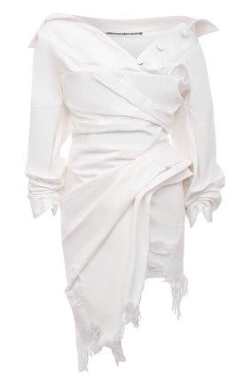 Женское джинсовое платье ALEXANDER WANG белого цвета, арт. 1WC2216339   Фото 1
