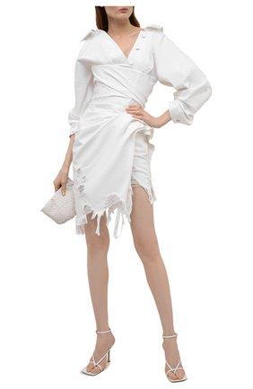 Женское джинсовое платье ALEXANDER WANG белого цвета, арт. 1WC2216339   Фото 2