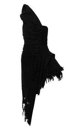 Женское джинсовое платье ALEXANDER WANG черного цвета, арт. 1WC2216337   Фото 1