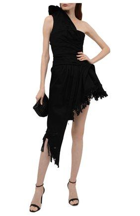 Женское джинсовое платье ALEXANDER WANG черного цвета, арт. 1WC2216337   Фото 2