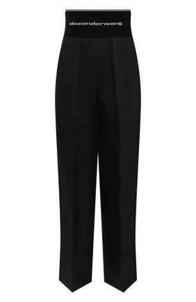 Женские хлопковые брюки ALEXANDER WANG черного цвета, арт. 1WC2214357 | Фото 1
