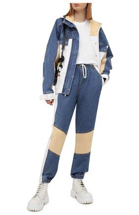 Женская джинсовая куртка DENIM X ALEXANDER WANG разноцветного цвета, арт. 4DC2212845   Фото 2