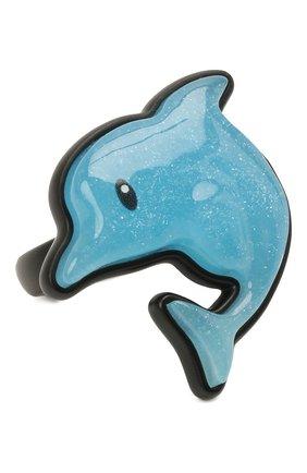 Женское кольцо sticker dolphin BALENCIAGA голубого цвета, арт. 655844/TZ25Z | Фото 1